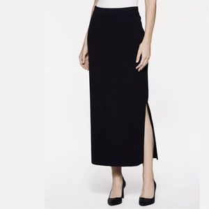 Exclusively Misook petite black maxi skirt
